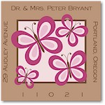 Name Doodles - Square Address Labels/Stickers (Thea Bold)